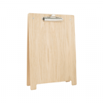 Free-Standing Wooden A-Frame Clipboard Poster Holder: A6 Portrait, Natural
